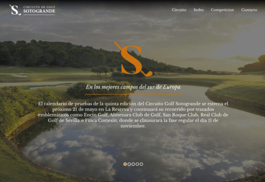Web Circuito Golf Sotogrande